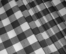 Black Check VW CAMPERVAN Caravan Curtains T2 T4 T5 T25 Orders Welcome *Lined*