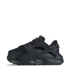 Nike Huarache Run Infants Toddler Trainers Shoes Black Anthracite