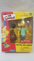THE SIMPSONS WORLD OF SPRINGFIELD TOYFARE PIN PAL MR. BURNS INTERACTIVE FIGURE