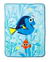 "Disney Finding Dory Plush Throw Blanket ~ 50"" x 60"""