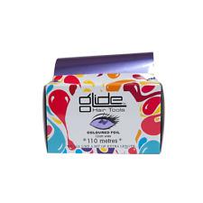 Glide Professional Purple Hairdressing Foil 12cm X 110 Metre