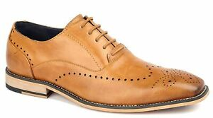 Mens Cavani Oxford Brogues Dress Suit Casual Smart Lace Up Formal Shoes Size