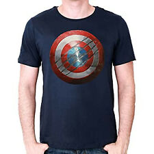 AVENGERS Civil war : T-shirt Captain America shield bouclier Navy taille L