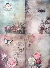 Rice Paper for Decoupage Decopatch Scrapbooking Sheet  Vintage  Magic Lands A24