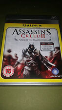 Playstation PS3 Assassins Creed 2 Game Platinum