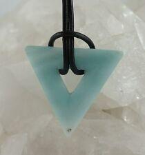 AMAZONIT Anhänger Dreieck  Triangel gebohrt Edelstein-Anhänger