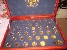 FRANKLIN MINT PRESIDENTIAL 24 KARAT GOLD DOLLAR PROOF COLLECTION W/ COA CASE