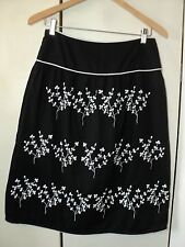 laura ashley black embroidered floral skirt AS BOUGHT.. superb piece