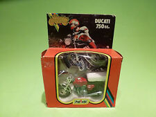 POLISTIL GT653 DUCATI 750 cc  - RED  1:24 - VERY GOOD CONDITION - IN BOX  1978