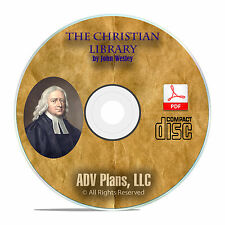 John Wesley, The Christian Library, All 30 Volumes, Bible Sermons CD PDF F10