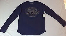 "NWT  Lucky Brand L/S Blue T-Shirt ""Too Tough To Beat""      XL        K#9689"