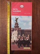 Vintage Road Map London 1961 Esso Tourist Attractions Tube Atlas 60s VGC