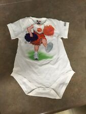 Add A Kid Baby Clemson Tigers One Piece Moustakos Size 12 MO (CON9)