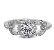 Round Cut D/Vvs1 Size 5 6 7 8 14 K White Gold Diamond Engagement Wedding Ring