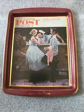 """The Saturday Evening Post Mini Metal Tin Plate- """"After the Prom�, Daher, England"""