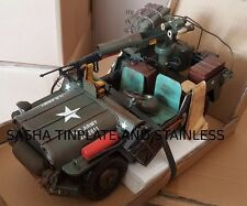 TRUCK US ARMY WILLYS JEEP tin tinplate car blechmodell auto voiture handmade