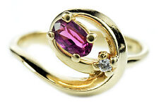 Women's Natural Ruby, Diamond .55 ct G/SI1 GIA Spec Cocktail Ring 14k Solid Gold