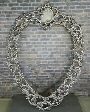 Antique Ferdinand Fuchs & Bros. Sterling Silver Heart Shaped Picture Frame