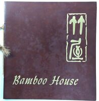 1960's BAMBOO HOUSE Chinese Restaurant Original Vintage Menu