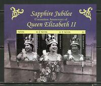 NEVIS 2018 SAPPHIRE JUBILEE OF QUEEN ELIZABETH II  SHEET  MINT NH