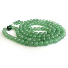 AAA 8mm Green Jade Tibet Buddhist 108 Prayer Beads Mala Necklace +009
