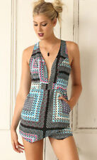 Polyester Hand-wash Only Geometric Jumpsuits, Rompers & Playsuits for Women
