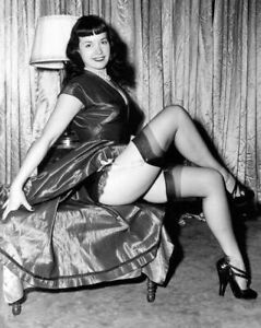Vintage Photo 8.5x11 #17168  Lovely Bettie Page Posing