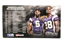 2011 Minnesota Vikings Skol NFL Football Fridge Magnet Schedule Adrian Peterson