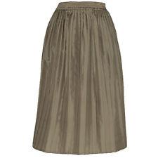 Jupe vintage plissée beige kaki Très bon état Taille 36-38 FR