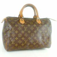 LOUIS VUITTON SPEEDY 30 Old Model Hand Bag Doctor Purse Monogram Brown