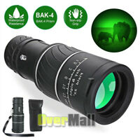Professional BAK4 Telescope with Night Vision 40X60 Monocular Spyglass Scope