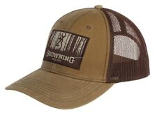 New Browning Cap Timber Wax Mesh Adjustable Snap Closure 308120841