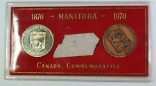 1970 Canada Commemorative Manitoba Silver and Bronze Medals In Sleeve
