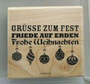"Stampin´ Up Holzstempelset ""Weihnachtswünsche"" Super Zustand -Rar-"