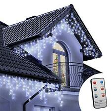 Icicle Lights Remote 1000 LED 35.5m Blue and Bright/Cool White Outdoor Christmas