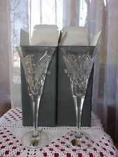 Waterford Crystal pair Millennium Happiness champagne flutes bow ribbon New Iob
