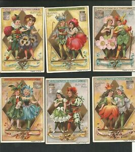 figurine liebig serie 554 ed. italiana. fanciulli e fiori nr sanguinetti