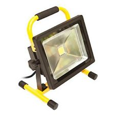 Luceco 30W Portable Outdoor LED Work Light IP65 1800lms Yellow