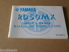 MANUEL UTILISATEUR DU PROPRIETAIRE YAMAHA RD 50 1982- Owner's manual RD50MX