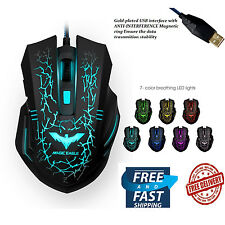 HAVIT Wired Optical 2400DPI Gaming Mouse Colour 7Adjustable LED Lights 6 Buttons