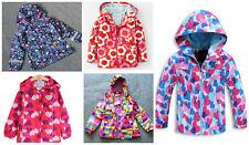 Girls Rain Coat Jacket Hood Windbreaker Spring Summer Mac Packable Age 2 to 11