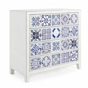 Chest of Drawers 4 Casssetti, Demetre Chiparus Elegant