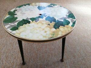 Retro Side Table Floral Chintz Dansette Vintage