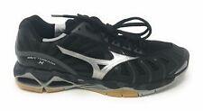 Mizuno Wave Tornado X Womens Volleyball Shoes, Black/Silver 10.5 B US USED
