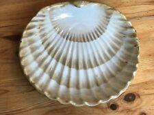 Pacific Rim Handpainted Ceramic Shell Plate