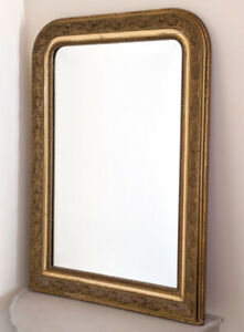 STYLISH FRENCH ANTIQUE LOUIS PHILIPPE GILDED MIRROR - C1900