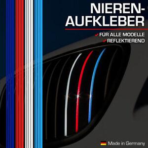 Nierenaufkleber für BMW Dunkelblau Rot Weiß Hellblau 100% Made in Germany Reflek