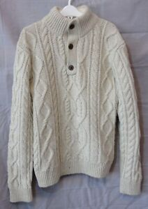 Boys Gap Beige Wool Blend Chunky Cable Knit Warm Jumper Age 12-13 Years