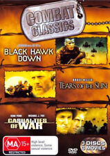 3 Combat Classics - BLACK HAWK DOWN, TEARS OF THE SUN,CASUALTIES OF WAR-BRAND NE