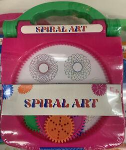 2 Spiral Art Craft Set Spirograph Stencil Spiral Wheels  Different Colors New 3+